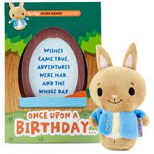 itty bittys peter rabbit birthday card stuffed animal