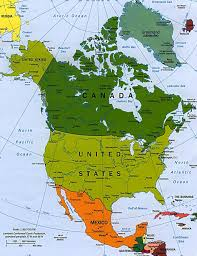 World Continents And Countries Map by Map Of North America