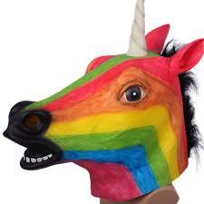 animal masks for halloween rainbow unicorn mask head toy