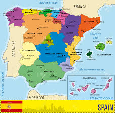 Maps Of Spain Detailed Vector Map Of Spain With All Regions And With Airports