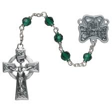 creed rosary our of knock emerald rosary