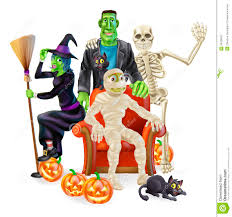 happy halloween clipart free halloween party group stock photography image 34206872