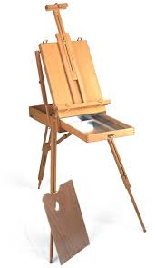 sketch box easel with palette and aluminium tray esl15c