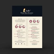 Resume Elegant Resume Templates by Elegant Resume Template Vector Free Download