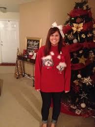 diy tacky dog christmas sweater the hamby home