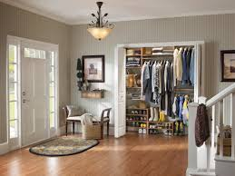 how to organize a small closet decor with large grey streaky
