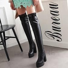 cheap womens boots uk womens blue boots chic denim stiletto high heels knee high