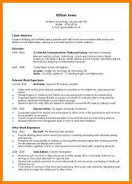 Resume For Ba 9 How To Write Cv For Student Emt Resume