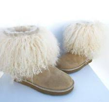 womens sheepskin boots size 11 ugg sheepskin mongolian fur boots 1875 sand us size