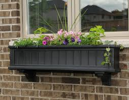 black square planter boxes interior design ideas