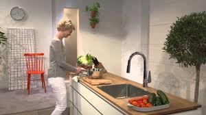 hansgrohe talis s kitchen faucet hansgrohe talis s 200 dřezová baterie 72813000 youtube