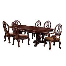 Antique Pedestal Dining Table Sun U0026 Pine 7pc Elegant Carved Double Pedestal Dining Table Set