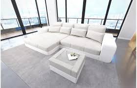 Huge Sofa Bed by Schön Big Sofa L Form In Megasofa Ultra Rose Mega Leather Fabric
