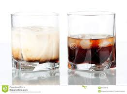 black russian cocktail black russian and white russian cocktails stock photography