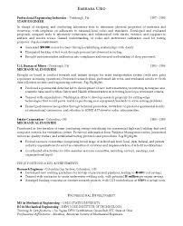 good resume example for instrumentation engineering resume