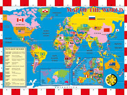 Kids World Map by Pure Play Kids Blog Archive For Kids World Cup Fun And