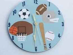 themed clock sports themed clock by happybluedragonfly on etsy sports nursery