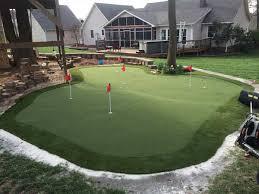 Backyard Golf Course by Backyard Putting Greens In Charlotte Nc Artificial Golf Grass