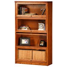 oak bookcases with glass doors classic oak promo 4 tier lawyer bookcase glass doors dcg stores