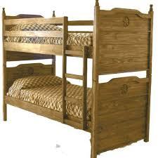 rustic twin bunk bed w texas star u2013 dark chubby u0027s mattress