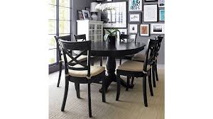 dark brown round kitchen table avalon 45 black round extension dining table reviews crate and