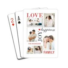 custom cards personalized deck of cards photo cards