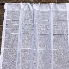 Sheer Door Curtains Linen Sidelight Sheer Door Curtain Window Double Rod Pocket