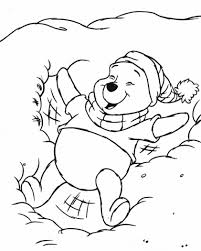 disney winter coloring pages pooh snow coloring