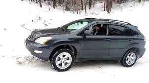 lexus rx400h winter tires lexus rx330 off road youtube
