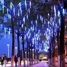 led meteor shower lights outdoor string lights