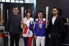 universiade torch and torchbearers u0027 uniform unveiled