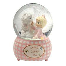 baptism snow globes precious moments musical water globe for the catholic company