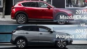 peugeot 3007 review 2017 mazda cx 5 vs 2017 peugeot 3008 technical comparison youtube