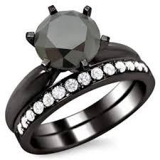 black gold wedding rings black bridal sets wedding ring sets for less overstock