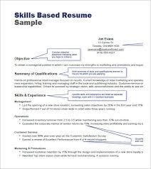 skill based resume exles skill resume format 83 images 5 skill based resume templates