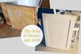 Shaker Beadboard Cabinet Doors - diy flat cabinet doors to shaker kitchen update how to convert