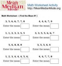 free mean median mode range worksheets u2013 my site