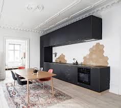 inspiring scandinavian ideas black cabinets and chairs wooden
