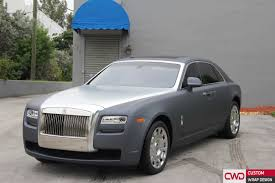 roll royce custom rolls royce ghost gunmetal grey wrap