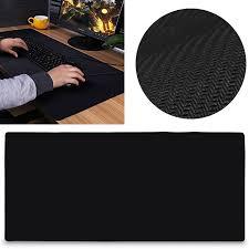 Gaming Desk Pad 90x40cm Large Black Non Slip Gaming Mouse Pad Keyboard Mat Office