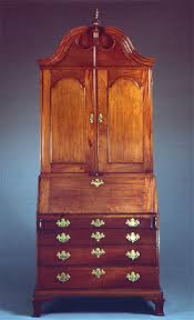 chippendale carved mahogany secretary bookcase by heller washam