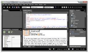 web design software freeware 15 best free wysiwyg html editing software for windows