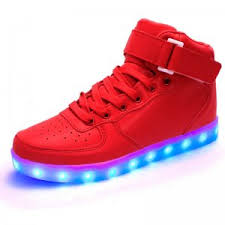 high top light up shoes led shoes womens red high top remote