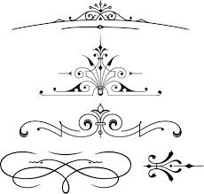 free font set of vector vintage ornaments free fonts