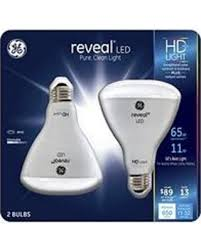 incredible deal on ge reveal hd 65w led br30 light bulbs 2 pack