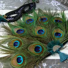 peacock feather fan held bridesmaid peacock feather fan from ivyndell on etsy