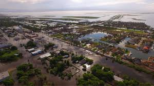photographs show texas harbor city aransas pass flooded after