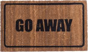 doormat funny go away black design coco mats coco mats n u0027 more