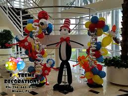 Thing One And Thing Two Party Decorations Party Decorations Miami Balloon Sculptures