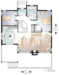 Images Du Plan De Maison Unifamiliale W3941 Vue Arrière Design